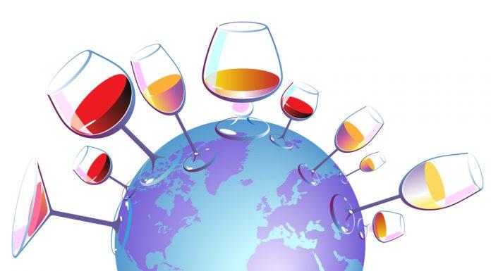 Representación de los vinos del mundo