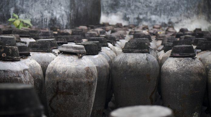 antiguas vasijas que contenían vino