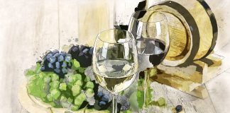 Dos copas de vino de distinta clase